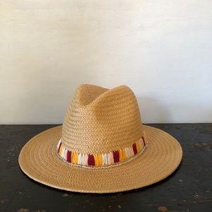 Something Navy Paper Panama Tan Straw Hat boho